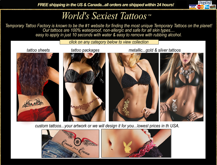 �	we offer an amazing selection of fantastic and unique selection of  temporary tattoos and gold tattoos