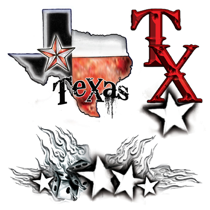 Texas-themed Tattoo Designs Related Keywords & Suggestions - Texas ...