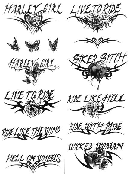 Biker tattoos live hard run fast male models picture for Biker chick tattoos
